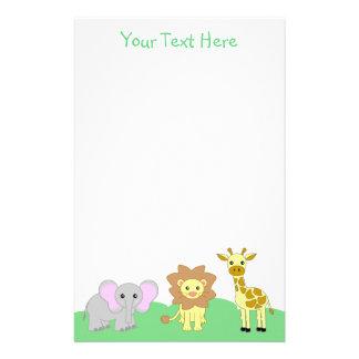 Baby Animals Stationery