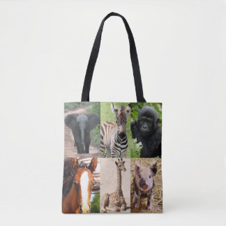 Baby animals tote bag