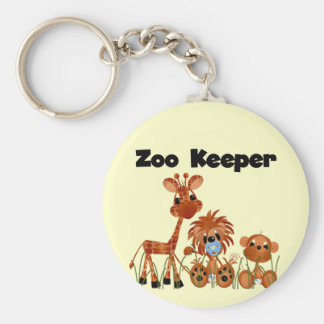 Baby Animals Zoo Keeper Tshirts and Gifts Basic Round Button Key Ring