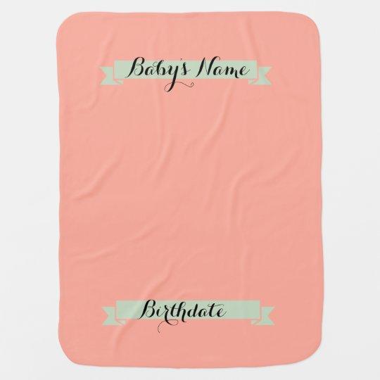 Baby announcement backdrop blanket-Customise Baby Blanket