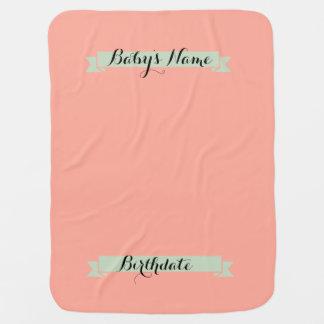 Baby announcement backdrop blanket-Customize Baby Blanket