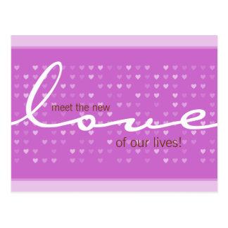 BABY ANNOUNCEMENT - love girl Postcard