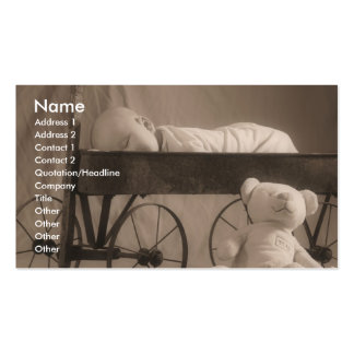 Baby Announcement or Business Pack Of Standard Business Cards