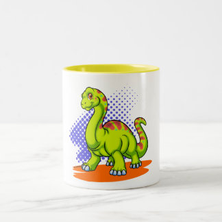Baby Apatosaurus Two-Tone Mug