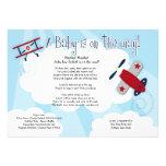 BABY AVIATOR Aeroplane 5x7 Baby Shower Invitation
