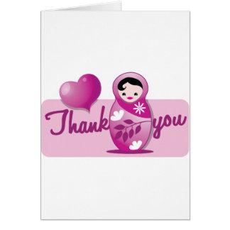 baby babushka thank you greeting card