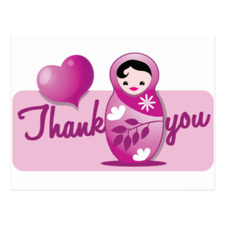 baby babushka thank you postcard