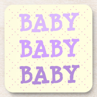 Baby Baby Baby in Shades of Purple Beverage Coasters