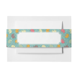 baby background invitation belly band
