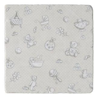 Baby background trivet