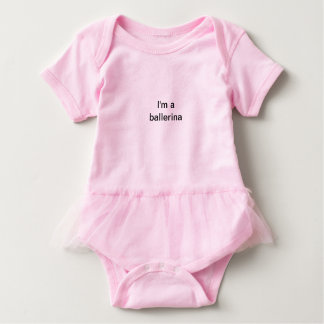 baby_ballerina baby bodysuit