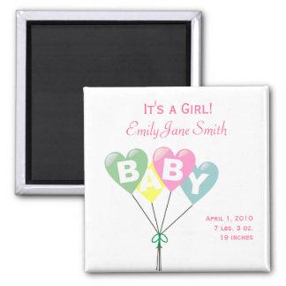 Baby Balloons Pastel Girl Magnet