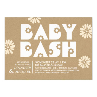 Baby Bash | Baby Shower Invitations Kraft Paper v1