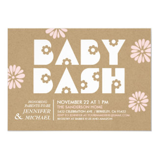 Baby Bash | Baby Shower Invitations Kraft Paper v2