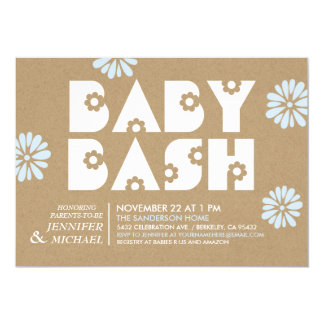 Baby Bash | Baby Shower Invitations Kraft Paper v3