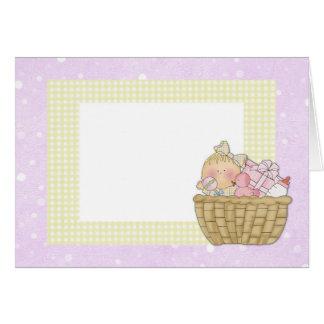 baby basket Pink Greeting Card