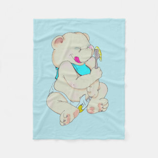 Baby Bear Alex Original art By Elizabeth Scafuto Fleece Blanket