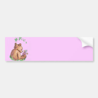Baby Bear and Fairy in Forest ! Bumper Sticker