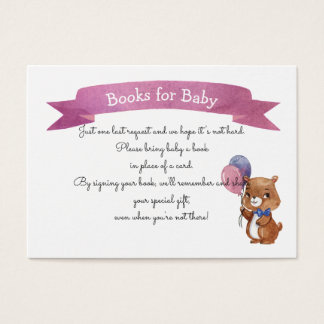 Baby Bear Baby SHOWER BOOK REQUEST