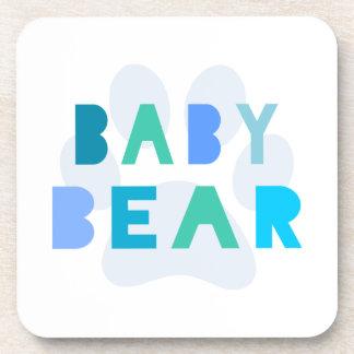 Baby bear - blue drink coaster
