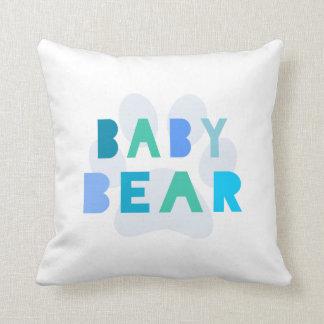 Baby bear - blue cushion