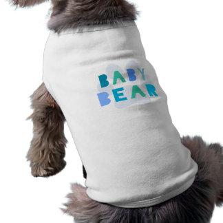 Baby bear - blue sleeveless dog shirt