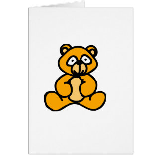Baby bear cartoon greeting card