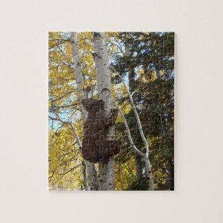 Baby bear climbing aspen - Puzzle