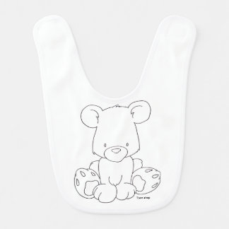 Baby Bear - color it yourself Bib
