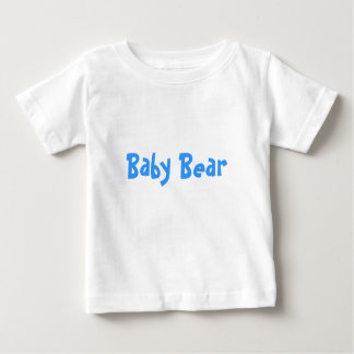 Baby Bear Mother's / Father' Day Gift - Blue text Baby T-Shirt