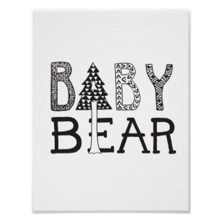 Baby Bear - Nursery or Kids Room Art Poster
