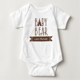 """Baby Bear"" - Personalized Baby Bodysuit"