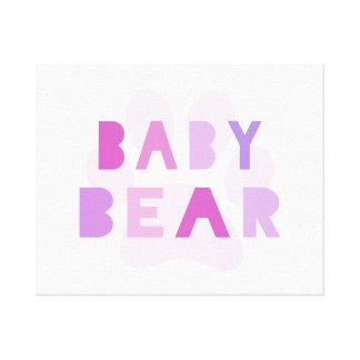 Baby bear - pink canvas prints