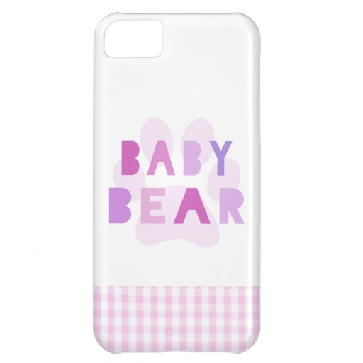 Baby bear - pink cover for iPhone 5C