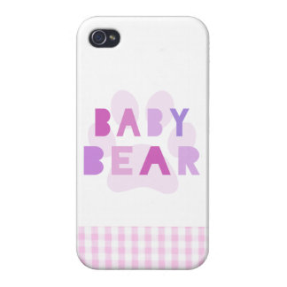 Baby bear - pink cover for iPhone 4