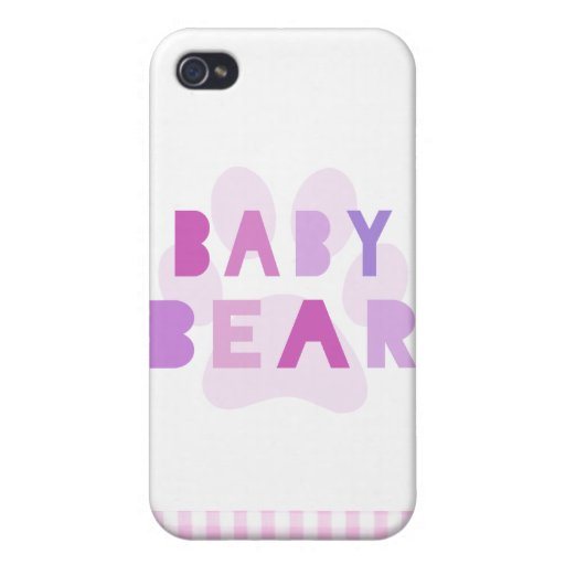 Baby bear - pink iPhone 4/4S cover