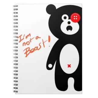 baby bear ragdoll notebook