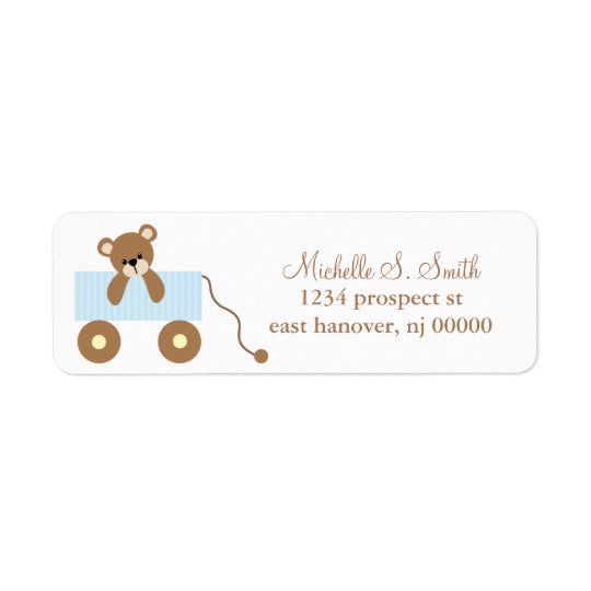 Baby Bear Return Address Labels