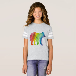 Baby Bear Watercolor Family Pride Football Tee