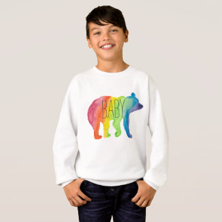 Baby Bear Watercolor Family Pride Kids Sweatshirt