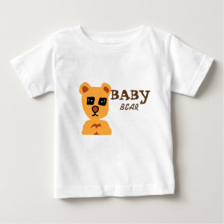 Baby bear white tshirt for baby boy