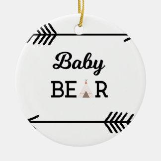 Baby Bear with Arrows Christmas Ornament