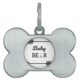 Baby Bear with Arrows Pet Tag