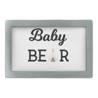 Baby Bear with Arrows Rectangular Belt Buckles