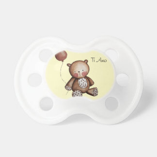 Baby Bear with Balloon Pacifier