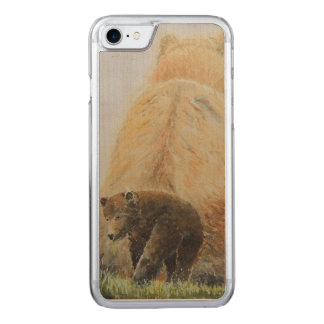 Baby Bear with Mama Bear Carved iPhone 7 Case
