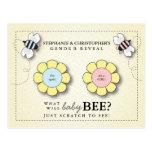 Baby Bee Gender Reveal Scratcher Game Postcard