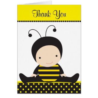 Baby Bee Note Cards Card