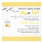 Baby Bee Shower invitation Gender neutral reveal