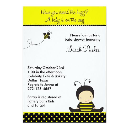 Baby Bee Shower Invitations